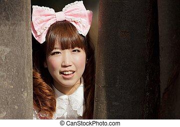 asian lolita portrait - japanese woman in sweet lolita...