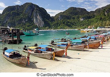 Ko phi phi island - Ton sai bay in ko phi phi island,...
