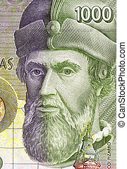 Francisco Pizarro 14711476-1541 on 1000 Pesetas 1992...