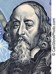 John Amos Comenius 1592-1670 on 20 Korun 1988 Banknote from...