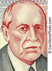 Eduardo Acevedo Vasquez 1857-1848 on 10 Pesos Uruguayos 1998...