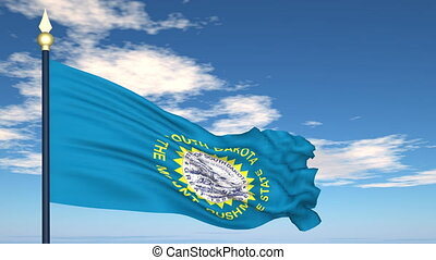 Flag of the state of South Dakota USA - Flag state of South...