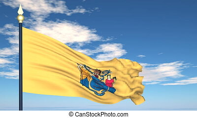 Flag of the state of New Jersey USA - Flag state of New...
