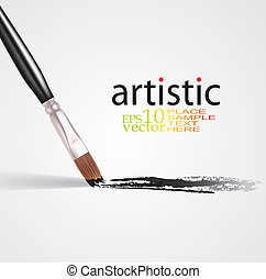 Art concept - Editable vector concept