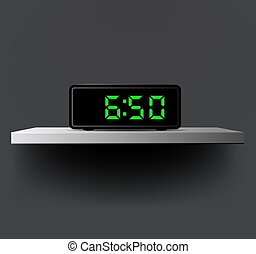 Digital clock:wake up concept - Editable vector design