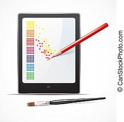 Digital art concept