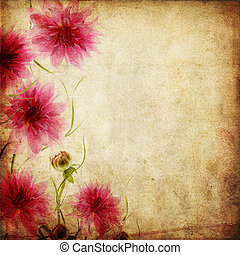 Old paper background with flowers - Old papers background...