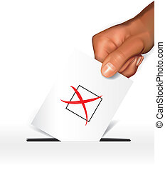 Voting concept - Editable vector design