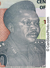 Murtala Mohammed (1938-1976) on 20 Naira 2009 Banknote from...