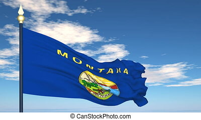 Flag of the state of Montana USA - Flag state of Montana on...