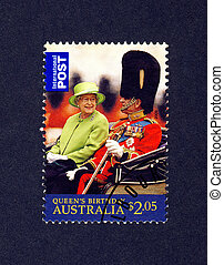 Queen Elizabeth and prince Philip - AUSTRALIA - CIRCA 2009:...