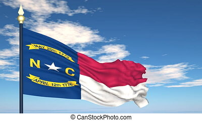 Flag of the state of North Carolina USA - Flag state of...