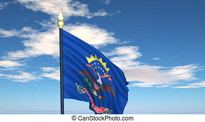 Flag of the state of North Dakota USA - Flag state of North...