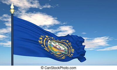 Flag of the state of New Hampshire USA - Flag state of New...