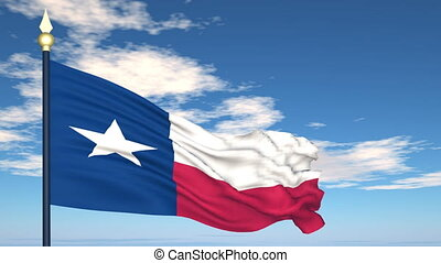 Flag of the state of Texas USA - Flag state of Texas on the...