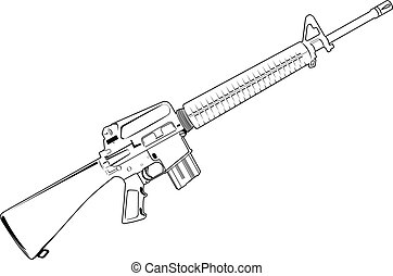 automatic - The vector image of automatic fire-arms