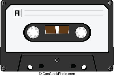 audiocassette - The vector image of an audiocassette close...
