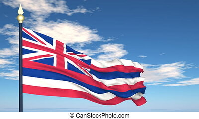 Flag of the state of Hawaii USA