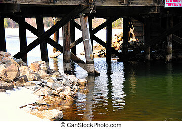 Troubled Bridge Over Water - Troubled Decaying Bridge Over...