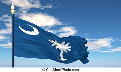 Flag of the state of South Carolina USA - Flag state of...