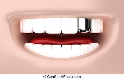 The smile - Illustration of a smile of the person with white...