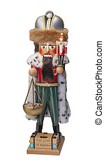 Nutcracker Czar, isolated - Nutcracker Czar on white,...