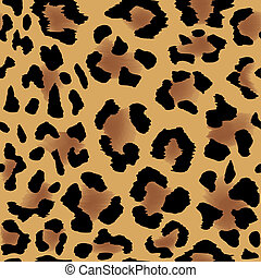 Leopard skin pattern - Seamless leopard skin pattern for...