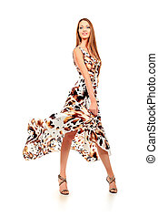fly dress - Fashionable young woman in beautiful dress...