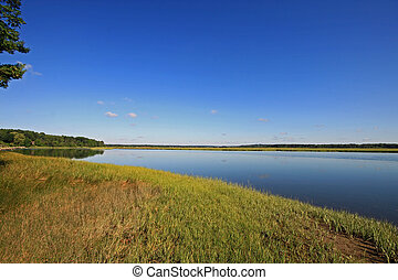 Calm marsh 2 - Marsh land in Scarborough Maine at high tide