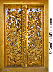 The temple gate pattern is image angel