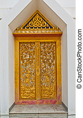 The temple gate pattern is image mythical female bird with a...
