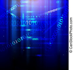 Abstract digital binary background
