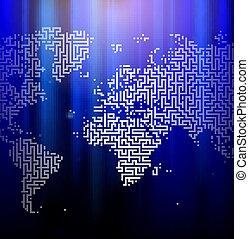 Digital maze eart design