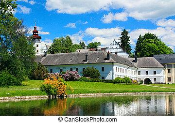 Romantic State Renaissance Chateau of Velke Losiny Czech...