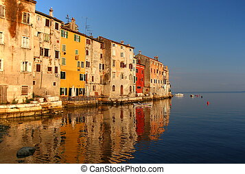Rovinj (Croatia) - View on the city Rovinj in Croatia.