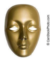 mask - gold venetian mask with reflection
