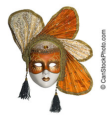 Venetian mask with jewelry