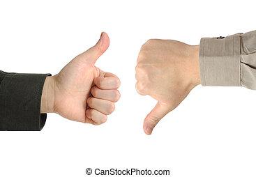 dois, executivos, ou, Homens negócios, discordar,...