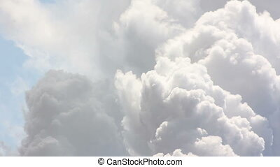 Smoke Air Pollution - Clouds of dense white industrial smoke...