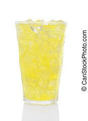 Glass of Lemon Lime Soda and Ice - A glass of Lemon Lime...