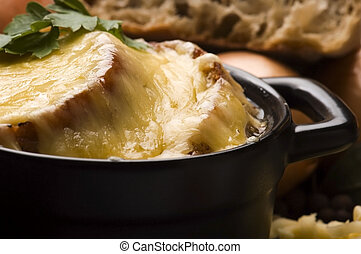 French onion soup with ingredients