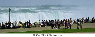 Niagara Falls with visitors, Ontario, Canada