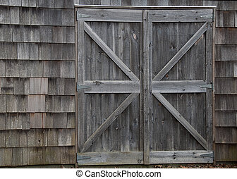 Barn Doors - A set of closed barn doors