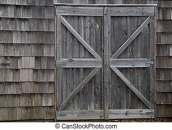 granero, puertas