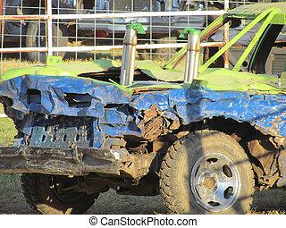 Demolation Car at Demolation Derby - demolation Car at...