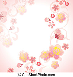 Cherry blossoms background - Illustration vector