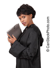 Female attorney - Graceful and pretty female attorney...