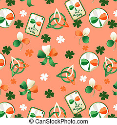 Trefoil seamless st. Patrick's Day background.