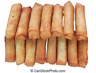 Deep fried spring rolls is light meal