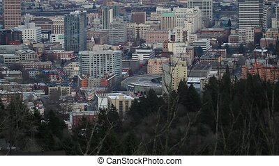 Portland Oregon Downtown Skyline - Portland Oregon Cityscape...